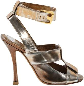 Sergio Rossi Metallic Leather Ankle boots