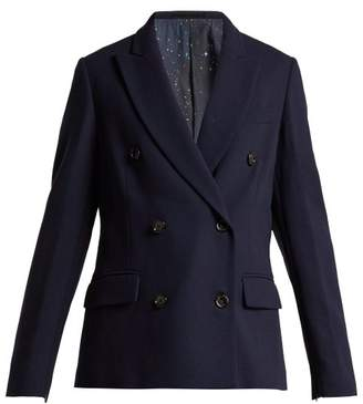 Golden Goose Misam Double Breasted Tailored Jacket - Womens - Navy