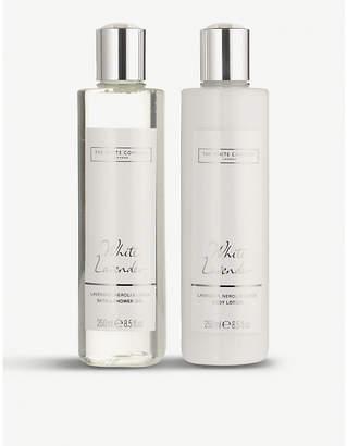 The White Company White lavender bath & body set