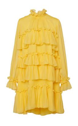 ADAM by Adam Lippes Ruffle Silk Chiffon Dress