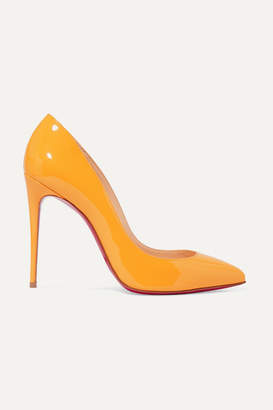 Christian Louboutin Pigalle Follies 100 Patent-leather Pumps - Yellow