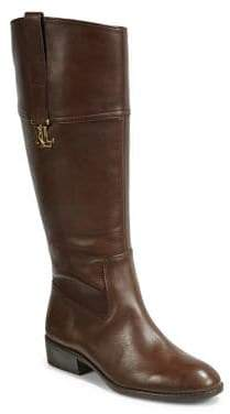 Lauren Ralph Lauren Wide-Calf Leather Almond-Toe Tall Boots