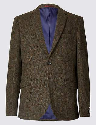 Marks and Spencer Pure Wool Harris Tweed Tailored Jacket