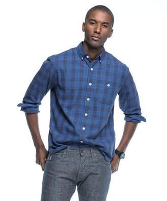 Todd Snyder Blue Plaid Flannel Button Down Shirt