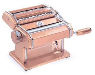 Marcato Atlas Pasta Machine, Made in Italy, Pink, Includes Pasta Cutter, Hand Crank, and Instructions