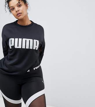 Puma Exclusive To Asos Plus Mesh Sleeve Sweatshirt