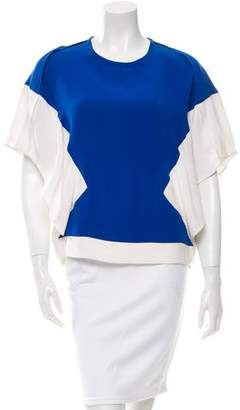 Ohne Titel Colorblock Draped Top