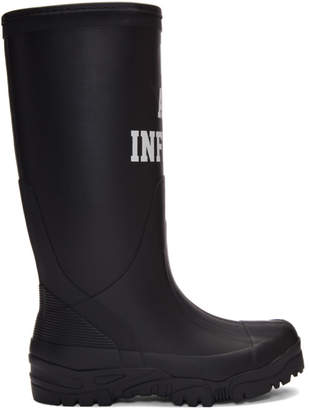 Undercover Black We Are Infinite Rain Boots