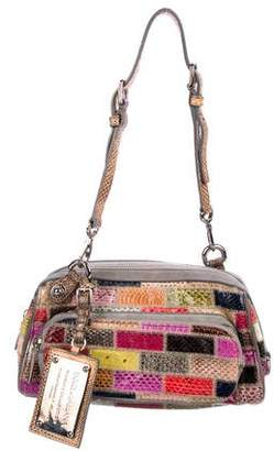 Pre Owned At Therealreal Dolce Gabbana Snakeskin Miss Pocket Bag