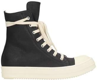 Drkshdw Black Canvas Ramones Sneakers
