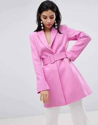 Asos DESIGN longline belted blazer
