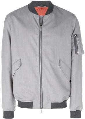Eleventy zipped bomber jacket