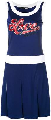 Love Moschino navy pleated dress