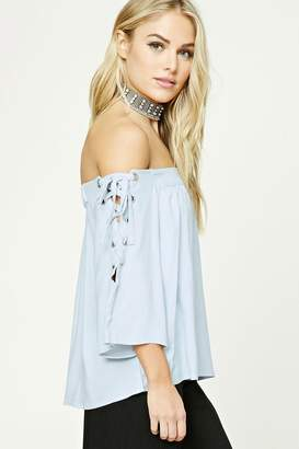 Forever 21 Contemporary Lace-Up Top