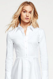 Lands' End Women's Shirt Dress-Multi Brush Stroke Print $135 thestylecure.com