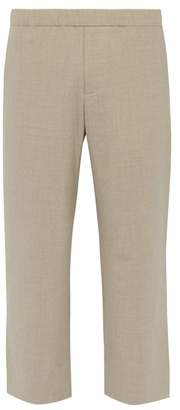 BEIGE Commas - Wool Blend Relaxed Cropped Trousers - Mens