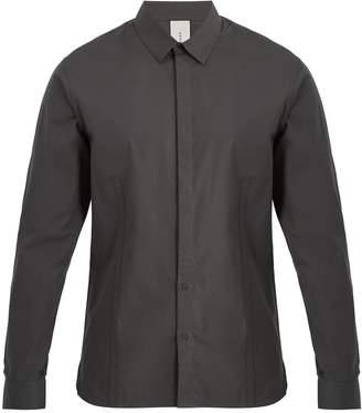 S0RENSEN Driver point-collar cotton-blend shirt
