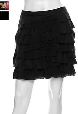 Marley Silk Layered Ruffle Mini Skirt