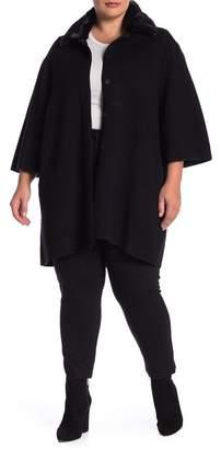 Catherine Malandrino Faux Fur Sweater Coat (Plus Size)