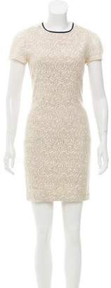L'Agence Floral Lace Bodycon Dress