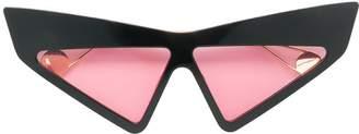 Gucci visor crystal studded sunglasses