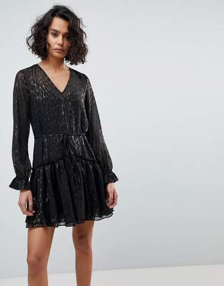 AllSaints Metallic Mini Dress