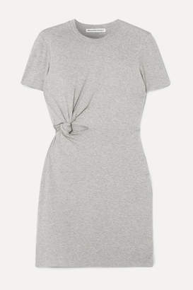 Alexander Wang Twisted Cutout Stretch-cotton Jersey Mini Dress - Light gray