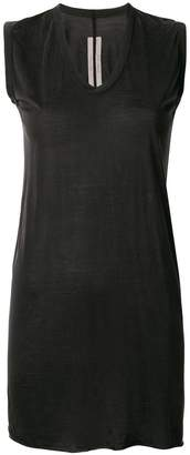 Rick Owens bias cut long v-neck tank