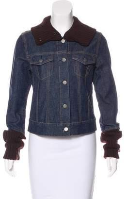 Theory Rib Knit Denim Jacket