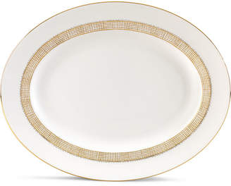 Vera Wang Wedgwood Gilded Weave Gold Oval Platter