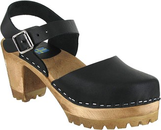 Mia Shoes Leather Clogs - Abba