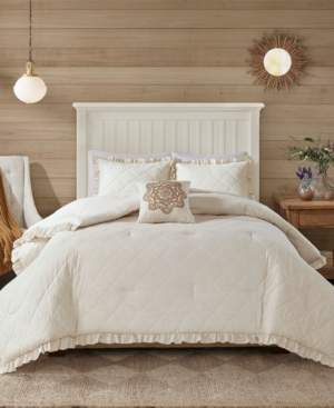 Madison Home USA Phoebe King 4 Piece Quilted Comforter Set Bedding