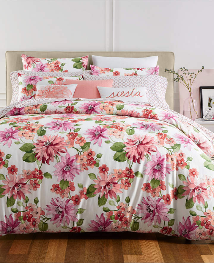 Damask Designs Bouquet 2-Pc. Twin Duvet Cover Set, Created for Macy's Bedding