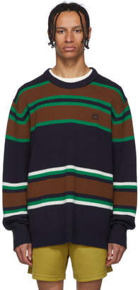 Acne Studios Navy Striped Nimah Sweater