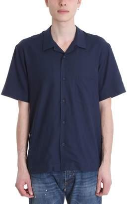 Mauro Grifoni Blue Cotton Shirt