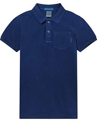 Scotch & Soda Shrunk Boy's Garment Dye Polo Shirt, (Yinmn Blue 1742), (Size: 16)