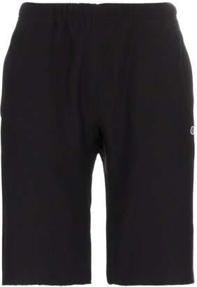 Champion black reverse weave terry cotton shorts