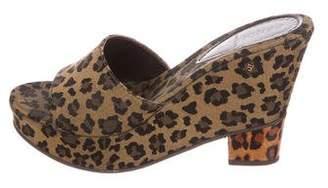 Fendi Jacquard Leopard Wedges