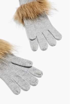 Country Road Faux Fur Trim Glove