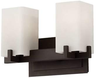 Feiss Riva 2-Light Vanity Fixture in Oil Rubbed Bronze