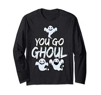 Cute You Go Ghoul Funny Pun Spooky Halloween Gift Long Sleeve T-Shirt
