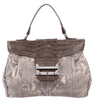 VBH Crocodile-Trimmed Python Handle Bag