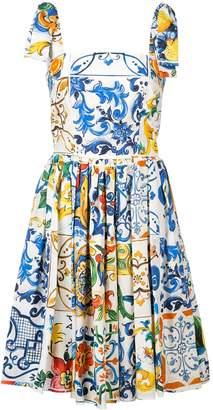 Dolce & Gabbana Printed Flare Dress