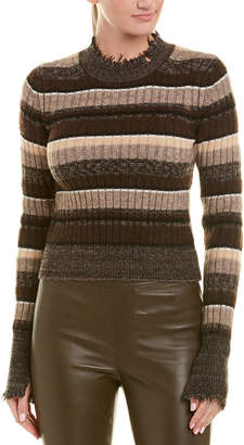 Helmut Lang Ombre Rib Wool-Blend Top