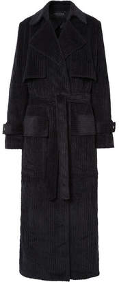 Michael Lo Sordo - Cotton-corduroy Trench Coat - Black