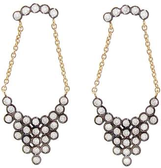 Yannis Sergakis Adornments Blackened Charnieres Earrings with Diamonds - Yellow Gold