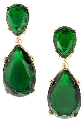 At Orchard Mile Kenneth Jay Lane Emerald Teardrop Pierced Or Clip Earrings