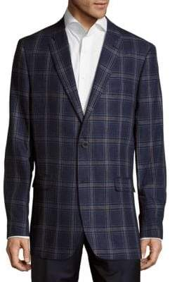 Tommy Hilfiger Plaid Linen Jacket