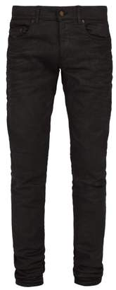 Saint Laurent Slim Leg Denim Jeans - Mens - Black