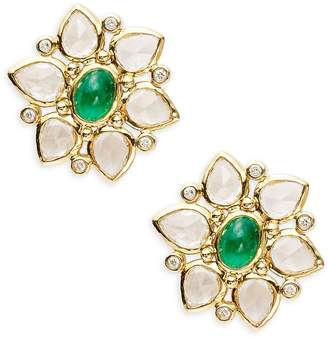 Temple St. Clair Women's CL Color 18K Yellow Gold Ottoman Stud Earrings